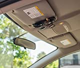 Double Sunglasses-Glasses Holder for Sun Visor / Air Vent -- Conveniently Holds 2 Pairs of Sunglasses -- By Superior Essentials
