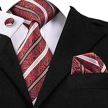 HYCZJH Conjunto de Corbatas Negras de Seda para Hombres, Corbata ...