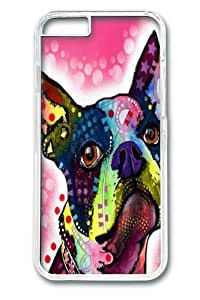 Boston Terrier 02 Custom iphone 6 plus 5.5 inch Case Cover Polycarbonate Transparent