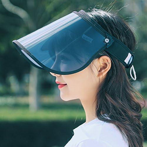 ELECPRO サンバイザー レディース uvカット UPF50+ 紫外線対策 日焼け対策 レインバイザー つば広 ワイド 帽子 アウトドア 自転車キャップ  (ブラック)