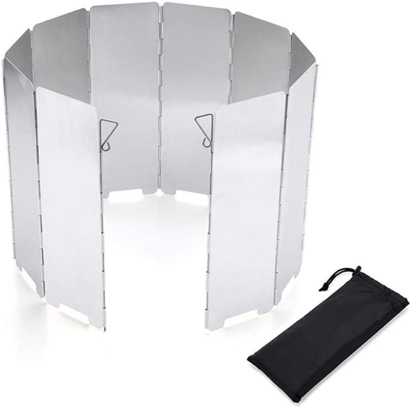 Foldable Wind Shield Screen for Outdoor Camping Cooking Cooker Stove x 9 Plates~