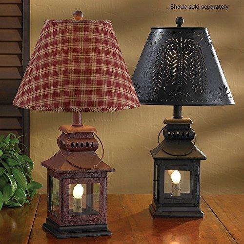 Park Designs Red Iron Lantern Lamp