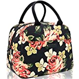 Lunch Bags for Women, HSicily Insulated Durable lunch Box Tote Bag Cooler Bag Lunch Bag for Work School Picnic Travel Beach(Peony)