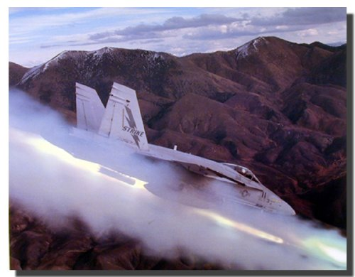 FA-18 Hornet Jet Aircraft Wall Decor Art Print Picture (Cost F-16 Fighter Jet)