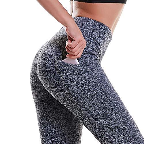 DIBAOLONG Womens High Waist Yoga Pants Tummy Control Workout Running 4 Way Stretch Sports Yoga Leggings with Pockets