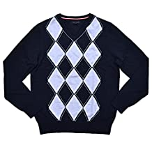 Tommy Hilfiger Mens Argyle Pullover Sweater