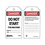 Master Lock 470-S4025 DO NOT START - THIS MACHINE SAFETY TAG