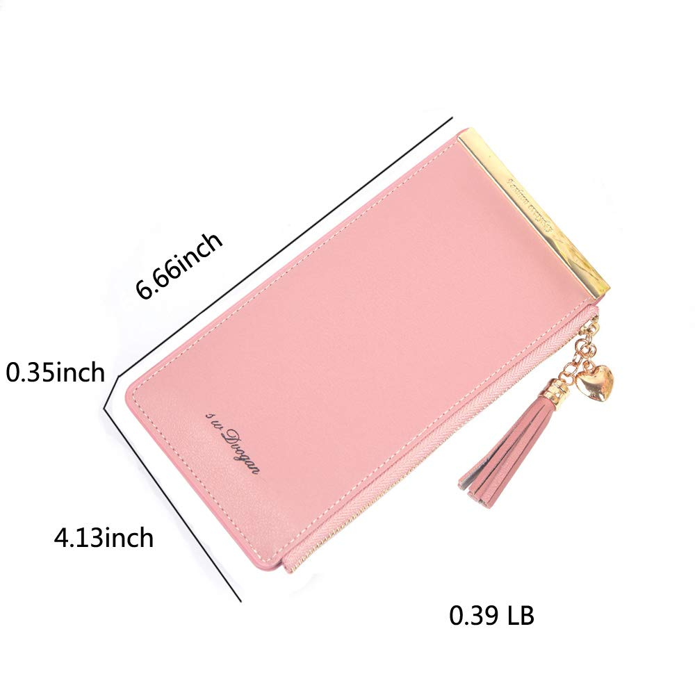 Women\'s Soft Leather Credit Card Holder Wallet, RFID Blocking Card Case Purse