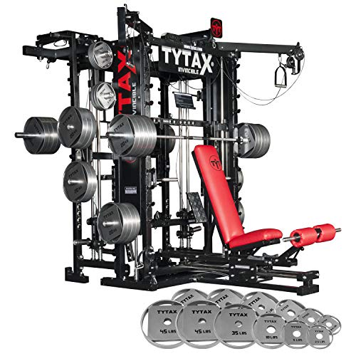 TYTAX T1-X Best Home Gym Machine – New Year's Weight Bundle – 335lbs