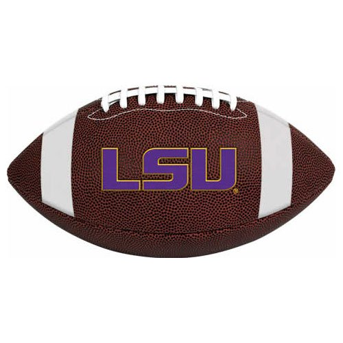 (NCAA Game Time Full Size Football , LSU Tigers, Brown, Full Size)