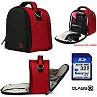 Laurel Travel Camera Bag Case For Canon EOS Rebel T5i, T5, T3i, T3i, T6s Digital SLR Camera + 32GB Class 10 SD Card At A Glance Review Image
