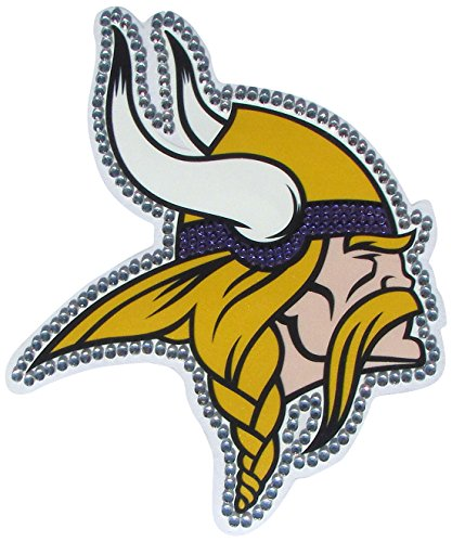 Minnesota Vikings Window - NFL Minnesota Vikings Vinyl Bling Decals, Large