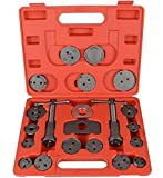 Carmer 21PC Universal Disc Brake Caliper Set Wind Back Pad Piston Compressor Break Tool for Replacement of Brake Pads, Brake Discs or Brake Shoes with Carrying Case