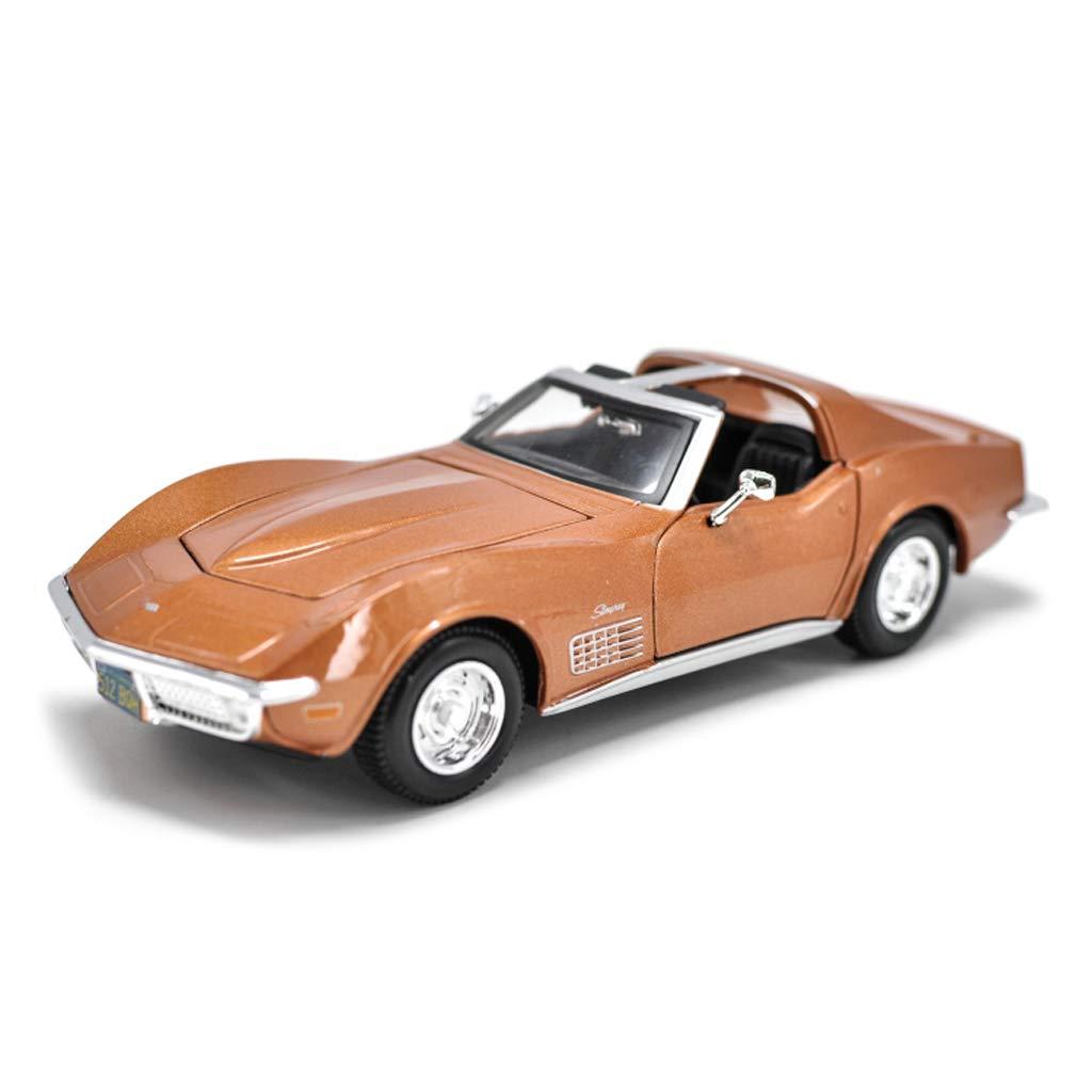 FLYSXP Modèle de Voiture 1970 Corvette modèles 1 24 rétro Voiture de Sport Simulation Moulage sous Pression en Alliage modèle Cadeaux pour Enfants Modèle de Voiture