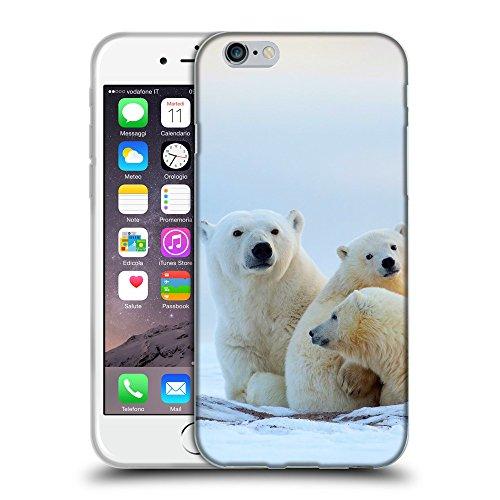 """Just Phone Cases Coque de Protection TPU Silicone Case pour // V00004118 Les ours polaires avec des petits // Apple iPhone 6 6S 6G PLUS 5.5"""""""