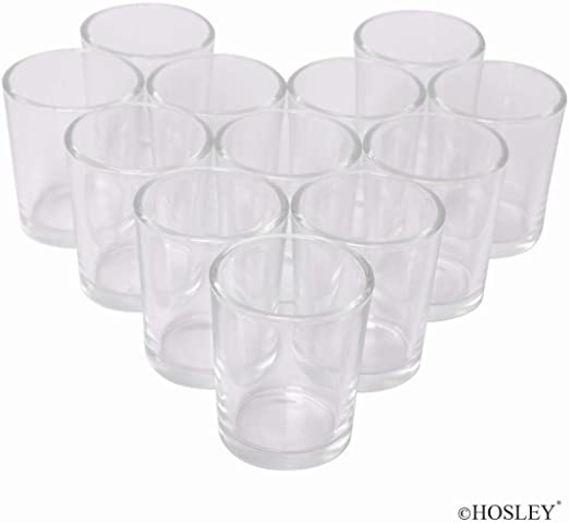 Ideal for Wedding Centerpieces /& Home Decor Letine Glass Votive Candle Holders Set of 72 Clear Tealight Candle Holder Bulk