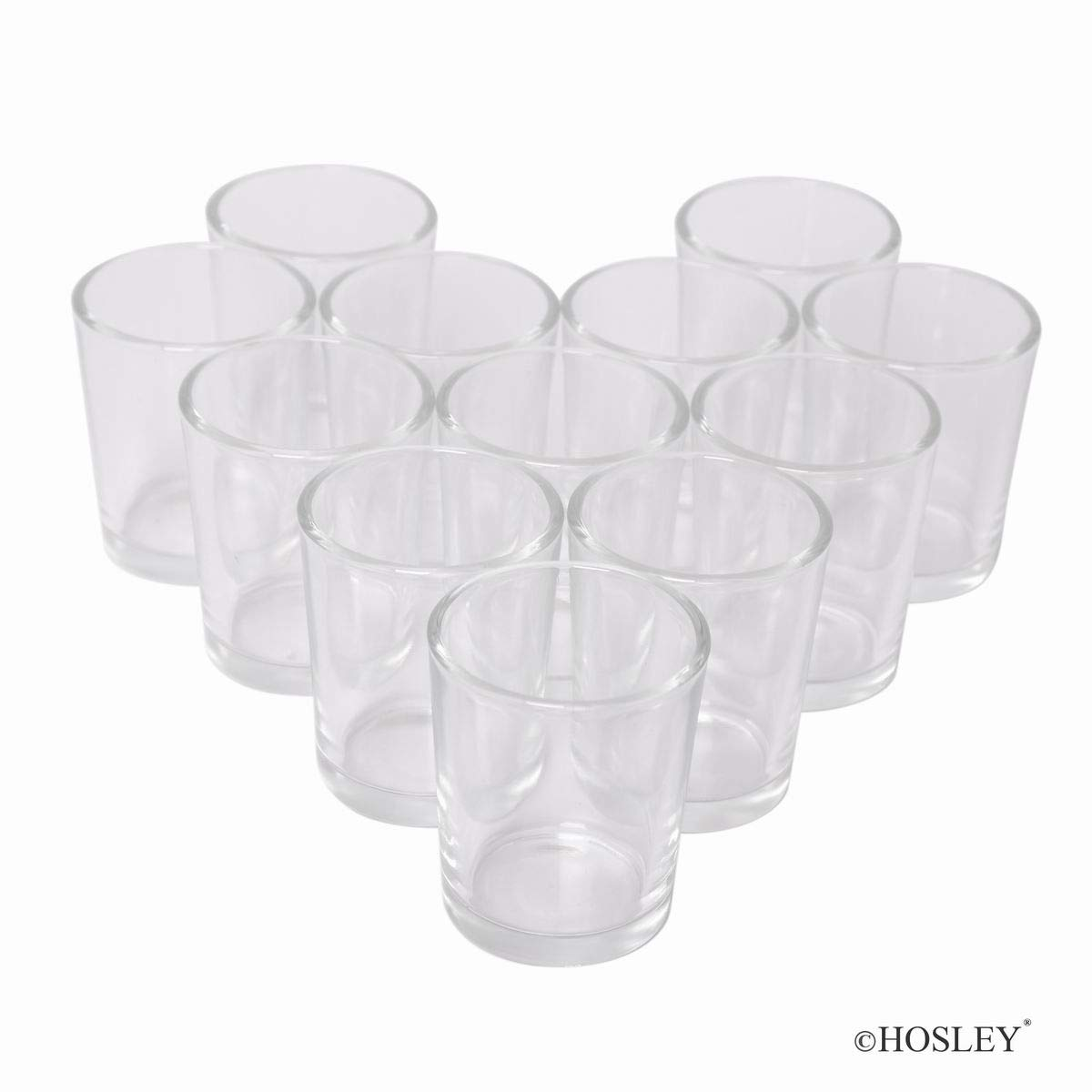 Hosley Set of 72 Clear Votive Tea Light Glass Candle Holders. Ideal for Parties Wedding Special Events Aromatherapy and Everyday Use Tealights O2 by Hosley