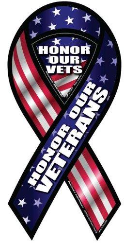 (Honor Our Veterans Ribbon Magnet)