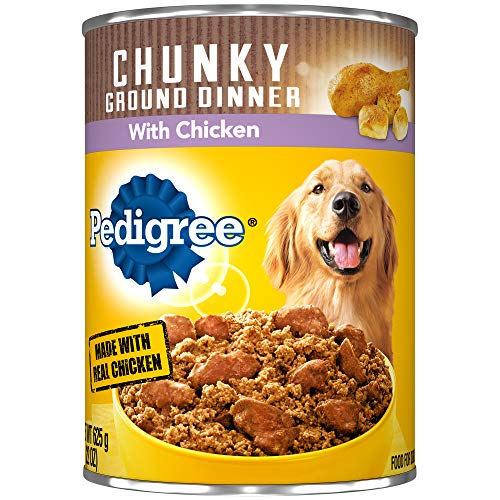 PEDIGREE Chunky Ground Dinner With Chicken Adult Canned Wet Dog Food, (12) 22 oz. Cans ()
