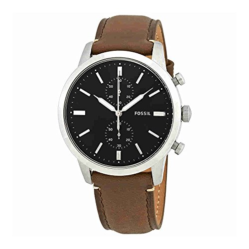 Fossil Men's FS5280 Townsman 44mm Chronograph Brown Watch by Fossil