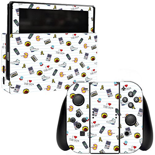 MightySkins Skin for Nintendo Switch - Love The 90s | Protective, Durable, and Unique Vinyl Decal wrap Cover | Easy to Apply, Remove, and Change Styles | Made in The USA