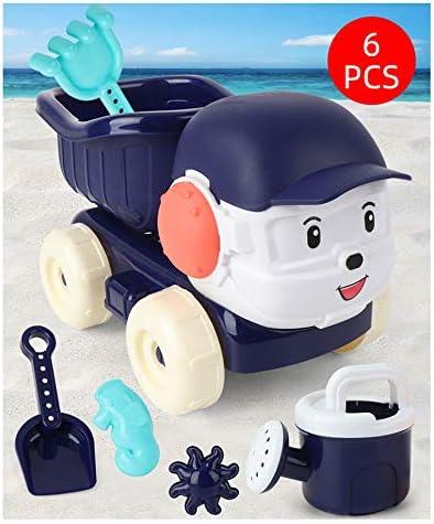 Juguetes De Playa con Camiones Volquete, Caja De Arena Al Aire Libre, Juguetes De Baño, Incluyendo Modelos Y Moldes, Rastrillo Cubo De Niño A Niño, Multicolor