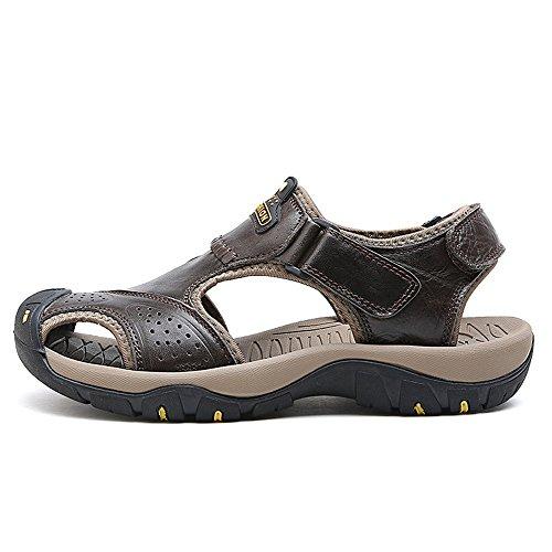 Size Genuino Antideslizante para Playa 40 Color Transpirable de Sandalias Hombre Suela de Superior Zapatos Zapatos Ocasionales Juans de shoes EU Black Suela Cuero los Hombres Khaki TxFqwZEAnB