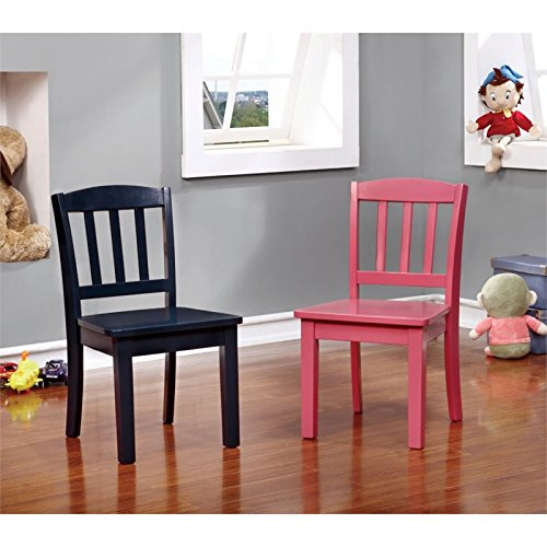 Furniture of America Allie Kids 5 Piece Table and Chair Set in White by Furniture of America (Image #2)