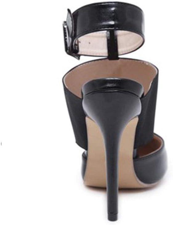 HBDLH Scarpe da Donna/Bello Comodo Appuntito Sottile con Una Fibbia Sandali. black