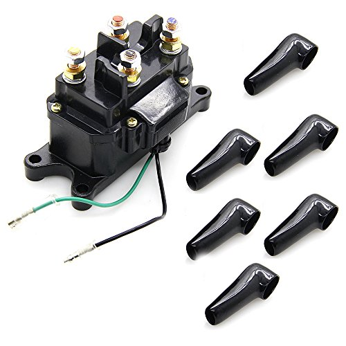 Winch Solenoid 12V 250A Relay Contactor Rocker Switch Thumb Truck with Protecting Caps for ATV UTV