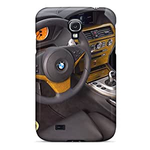 Galaxy S4 Cases Covers - Slim Fit Tpu Protector Shock Absorbent Cases (yellow Ac Schnitzer Tension Concept Bmw Dashboard)