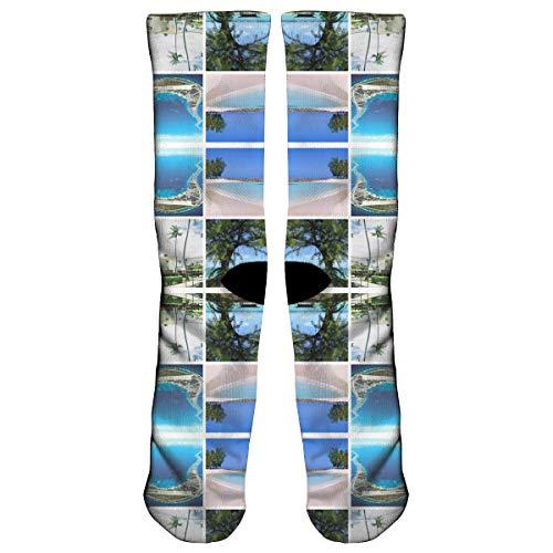 - Kwajalein Window Pane Wallpaper (8926) Compression Sock for Women & Men - Best for Running, Athletic Sports, Flight Travel
