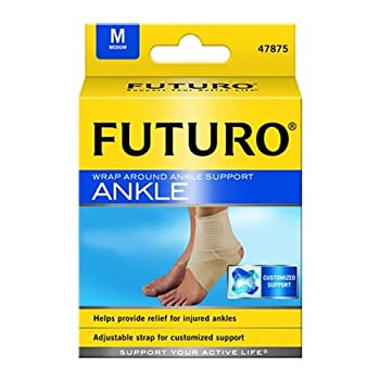 Futuro Ankle Support, Wrap Around, Medium, 1 support (Pack of 3)