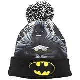 New Era Cap Men's All Out Batman Pom Beanie, Black, One Size