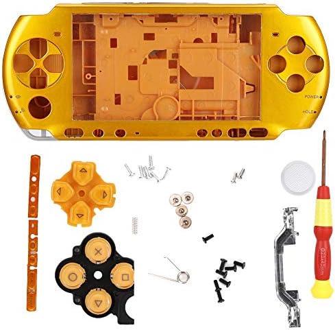 交換用コントローラースキンPSP保護ケース、PSP3000コンソール用ドライバー付きゲームコンソールシェル 軽量 持ち運び便利(#5)