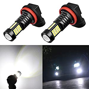 Alla Lighting 2000 Lumens High Power 3030 36-SMD Extremely Super Bright 6000K White H11LL H8LL H11 H8 H16 LED Bulbs for Fog Driving Light Lamps Replacement