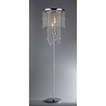 Diana crystal floor lamp chandelier lamps amazon diana crystal floor lamp mozeypictures Image collections