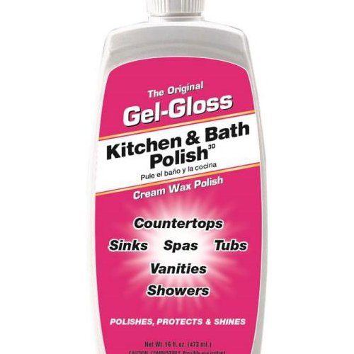 The Original Gel-Gloss Kitchen and Bath Polish and Protector, 16 oz. Liquid (Porcelain Sink Kitchen)