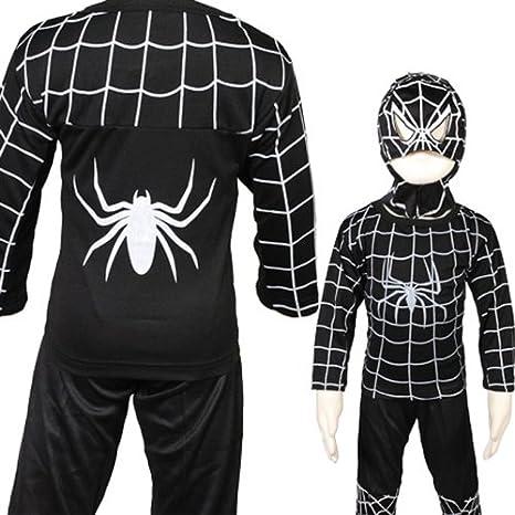 D204-5 colour negro Spiderman de disfraz de grupo de Halloween del ...