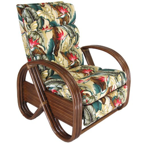 Kailua Rattan Upholstered Furniture Recliner Chair Made in USA by urbandesignfurnishings.com