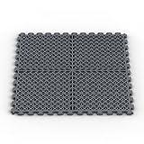 vented garage floor tiles - Norsk NSMPVN6DG Vented Multi-Purpose PVC Flooring, Dove Gray, 6-Pack