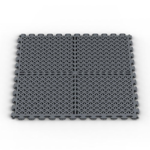 Norsk NSMPVN6DG Vented Multi-Purpose PVC Flooring, Dove Gray, 6-Pack (Vented Deck)