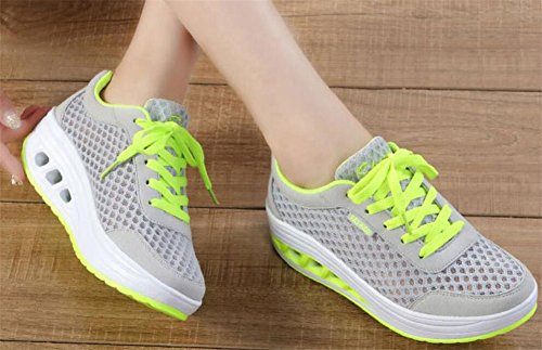 Adult Womens Shape Ups Mesh Walking Fitness Shoes Fashion Sneakers Green R3qx1wkbLb