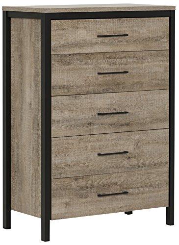 South Shore Munich 5-Drawer Dresser, Weathered Oak and Matte