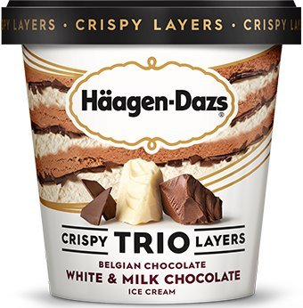 Häagen-Dazs TRIO Triple Chocolate, 14 Oz Pint (8 Count) by Häagen-Dazs (Image #1)