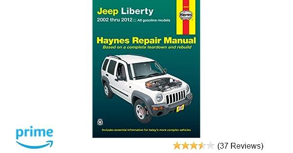 jeep liberty 2002 thru 2012 all gasoline models haynes repair rh amazon com 2012 jeep wrangler factory service manual 2012 jeep wrangler service manual pdf
