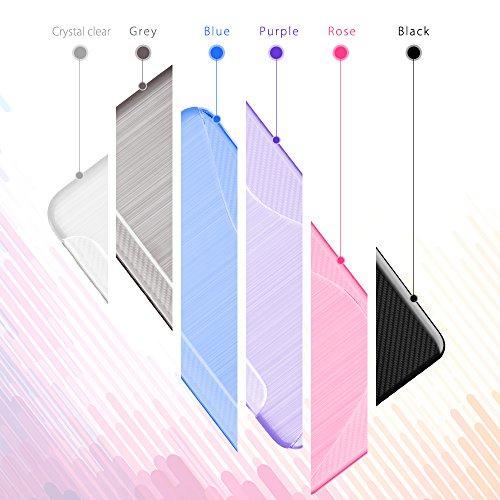 Funda Huawei P20 Plus SLEO Carcasa Suave TPU Gel [Ultra Fina] [Protección a Bordes y Cámara] Parachoques Alta Resistencia Protectora Delgada con Absorción de Impactos y Resistente a los Arañazos para  Azul Oscuro