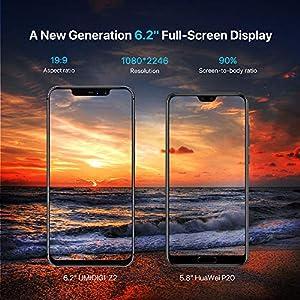 UMIDIGI Z2 6.2″ FullView Display(19:9 Ratio)- 64GB ROM+6GB RAM Unlocked Cell Phone – Dual Sim 4G Volte Unlocked Smartphone -16MP+8MP Dual Camera – 3850mAh Battery -Android 8.1 Cellphone (Twilight)