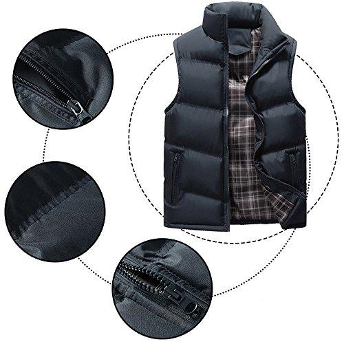Outwear XFentech Winter Blue Jacket Windproof Down Sleeveless Waterproof Stand Deep Puffer Collar Zipper Coat Men's Down Vest r6qgRrw