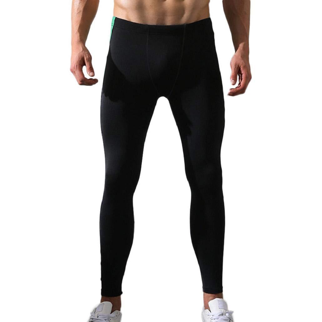MISYAA Mens Yoga Pants, Muscle Tights Color Match Stretchy ...